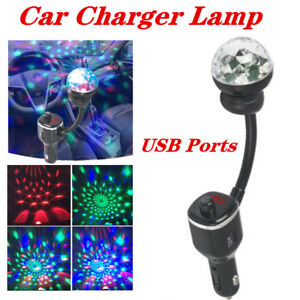 USB Port Bluetooth Phone Player Transmitter Charger Adapter W/Roof Light 1A