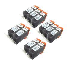 10 INK CARTRIDGE PGI-225 PGI-225BK BLACK FOR CANON MG5120 MG5220 MG5320 MG6120