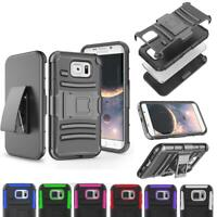 Belt Clip Holster ShockProof Hybrid Case Cover For Samsung Galaxy S6/S6 Edge +