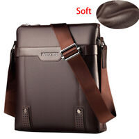 Men Soft PU Leather Messenger Bag Briefcase Bag Shoulder Bag Crossbody Handbag
