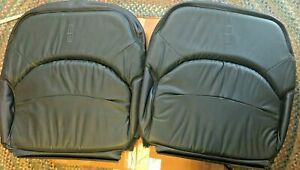 OEM 1999 Lincoln Continental? Top Upper Seat Covers Driver/Pass- Dk Blue - #26