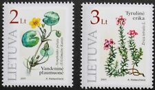 Plants in the Red book stamps, 2001, Heather, Lithuania, SG ref: 758 & 759, MNH