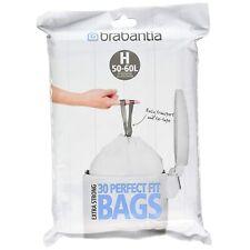 Brabantia - Lot de 30x Sac Poubelle 50-60 Litres (Taille H) pour Bureau, Maison