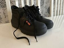 TOE GUARD GENUINE LEATHER SAFETY BOOTS SIZE 5 MENS WOMENS BNWT