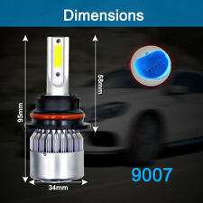 HB5 9007 Dual LED 72W 8000LM Headlight Conversion Bulb White 6000K HIGH/LOW BEAM
