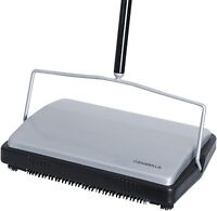 """Casabella Carpet Sweeper 11"""" Compact Electrostatic Floor Cleaner Stainless Steel"""