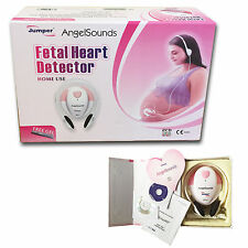 Angelsounds Fetal Doppler Prenatal Baby Heart Monitor+2CDS+Gel+Recording cable