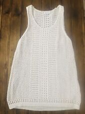 GAP for Good Open Knitted Tank Top Beige/White Size M Medium ✨