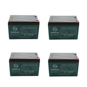 4 Pack 6-DZM-12 12V 12Ah Battery  for Electric tricycle, Trike, Xtreme Scooter