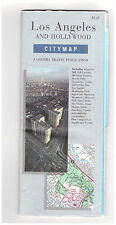 H M Gousha City Map 92/93 Los Angeles & Hollywood Bell Culver City Inglewood CA