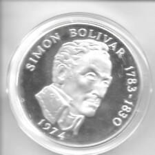 Panama 1974 20 Balboas Sterling Silver Coin KM-31 Choice Proof W/FM Box & COA