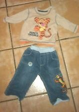 Disney at George boys Winnie the Pooh Tigger jeans & long sleeve top 3-6 months