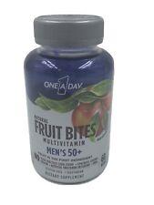 One A Day Natural Fruit Bites Men's 50+ Multivitamin 60 each 5/2021 FRESH!
