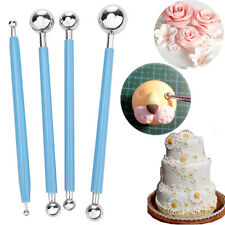 4Pcs Fondant Cake Decorating Clay Flower Sugarcraft Ball Modelling Cutter Tool C