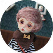 QQ-08 pink purple - Doll Wig: 1/6 size ;Synthetic Mohair . imda3.0