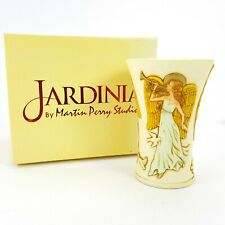 Jardinia Carved Cup Vase Songs of Praise Angels Doves Crushed Marble Harmony New
