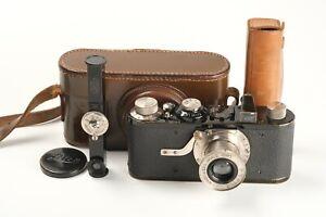 Leitz Leica IA mit Pilz-Knopf-Auslöser Nr. 10070, E-Messer, 1x Deckel, Tasche