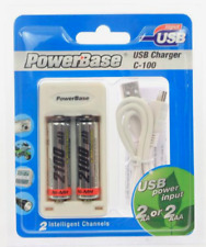 Powerbase USB Charger C-100 AA AAA