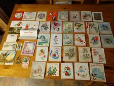 Vintage Greeting Cards And Paper Lot