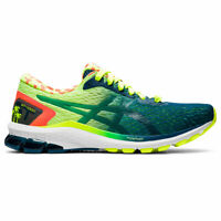 ASICS 1011A933 750 GT 1000 9 Safety Yellow Mako Blue Men's Running Shoes