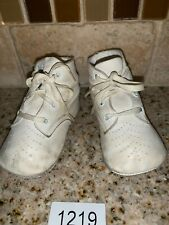 Vintage baby shoes soft leather  1930's 1940s Booties #1219