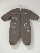 Okay Baby Toddler Snow Suit Brown Penguin Zipper 6-9 months Hood