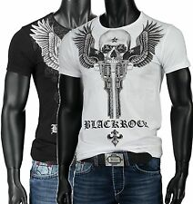 "BLACK ROCK by Jeel Jeans Slim Fit T-Shirt ""Skull Pistols"" Hemd Shirt #6111077"