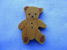 25mm  Hand Painted Teddy BearCraft Button