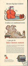 1957 GM Delco Air Conditioner Electric Motor No More Dog Days Print Ad