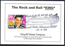 Elvis Presley #2721 FDC Unofficial FDOI Rock n roll Statio Ringold Card(LOT 302)