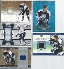 Brad Richards  All Different  Tampa Bay Lightning 5-Lot  All Jerseys & Serial #