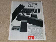 JBL Speaker Ad, 1969, L75 Minuet, SC99 Athena, SA660, Cortina, Article, Info