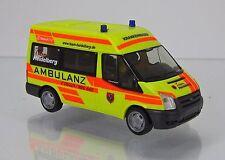 "Rietze 52526 ford transit bus MD (2006) ""ambulancia Heidelberg"""
