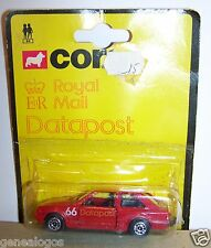 CORGI TOYS FORD ESCORT DATAPOST ROYAL MAIL POSTE ANGLAISE PTT 1981 GREAT BRITAIN