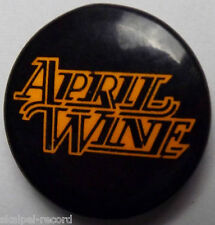 APRIL WINE Logo Vtg 70`s/80`s 25mm Button Pin Badge AW.102