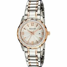 Accurist Silver Dial Stainless Steel and Rose Gold Bracelet Ladies Watch LB1684