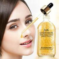 24k Gold Facial Skin Care Anti wrinkle Anti-Aging Face Essence Serum Cream US