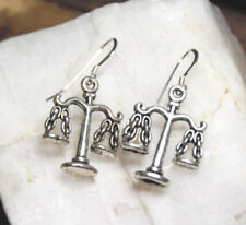Legal Scale Earrings Attorney Law Student 925 sterling silver hooks pewter charm