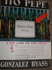 Tio Pepe Gonzalez Byass Sherry new label advert 1964 ref AY