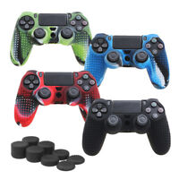 CamouflageSilicone Rubber Skin Grip Cover Case for PlayStation 4 PS4 ControlHF