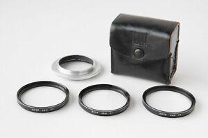 Hoya 49mm Macro Close Up  +1 +2 +3 Lens Filter Set w/42-49mm Step up Ring & Case