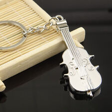 Cello Shaped Musical Instruments Silver Metal Keyring Key Chain Novelty Gift
