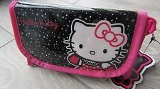 Hello Kitty Nero e Rosa Make-Up Bag NUOVO CON ETICHETTA