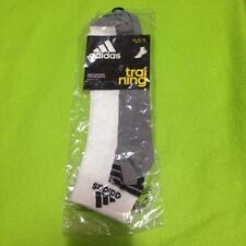 Adidas White and Gray Men's Training Socks size EU 43-44 UK 8.5-11