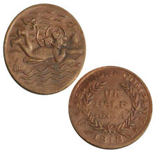LORD HANUMAN JI 1818 EAST INDIA COMPANY U HALF ANNA COIN