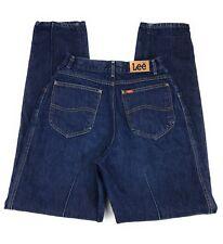 Vintage Union Made USA Lee Pleated Creased High Waist Mom Blue Jeans Women's 11