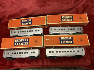 1950 Vintage Lionel 2421 2422 2423 2429 Silver Pass In ORIG BOXES SHINY SILVER!