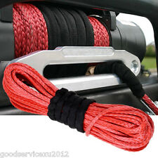 Good Quality Red Synthetic Fiber Autos SUV Winch Line Cable Rope Sheath ATV UTV