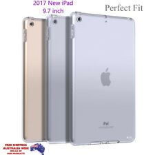 NEW iPad 2017 Slim Crystal Clear TPU Silicone Protective Back Case Cover