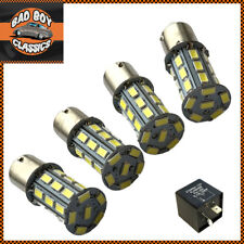 1156 BA15S 27 LED Turn Signal Indicator Bulbs AMBER For Clear Lenses x4 Fits MGB